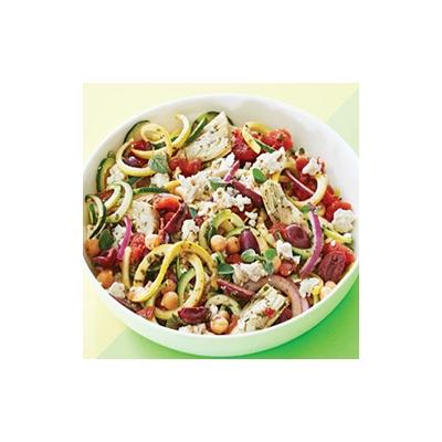 No-Pasta Mediterranean Zucchini Salad