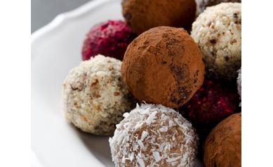 Chocolate Cherry Walnut Truffles