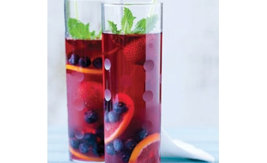 Hibiscus Pomegranate Cooler