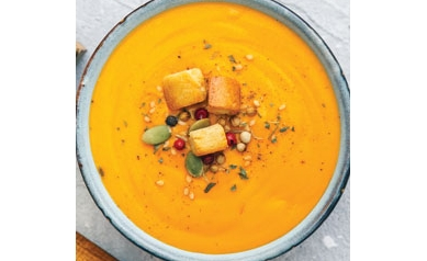 Red Lentil-Pumpkin Squash Soup
