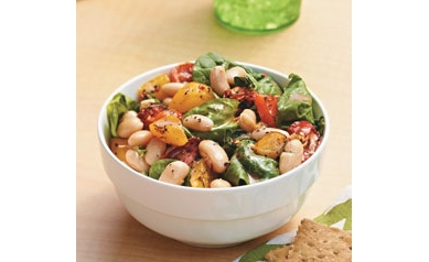Cannellini Bean Salad with Roasted Vegetables