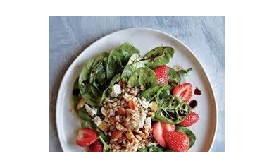 Wheat berry and Strawberry Salad