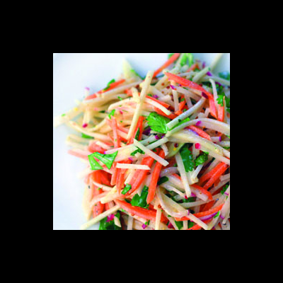 Carrot, Kohlrabi and Radish Slaw