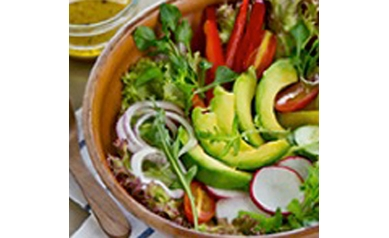 Arugula and Kale Salad with Mustard Vinaigrette