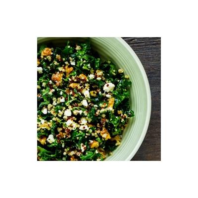 Kale and Quinoa Salad with Hemp Seed Caesar Dressing