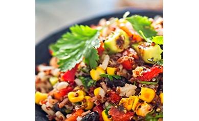 Quinoa Power Bowl with Hemp Seed Caesar Dressing