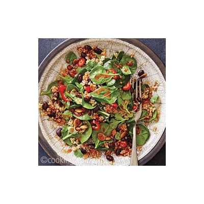 "Black Bean and Quinoa Salad with ""Mole"" Vinaigrette"