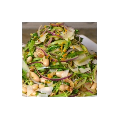 Shaved Asparagus and White Bean Salad