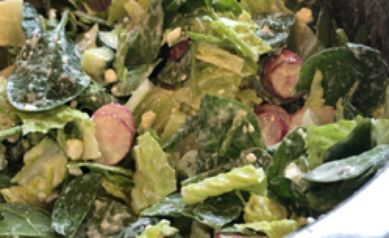 Spinach & Romaine Salad w/ Creamy Garden Fresh Dressing