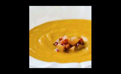 Roasted Cauliflower Curry Soup