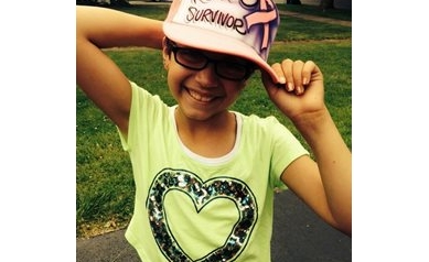 Girl fights cancer with a lot of spirit