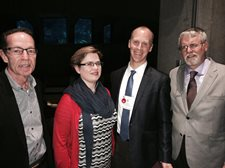 Dr. Auerbach with executive members of the American Physiological Society and the journal Clinical Science.