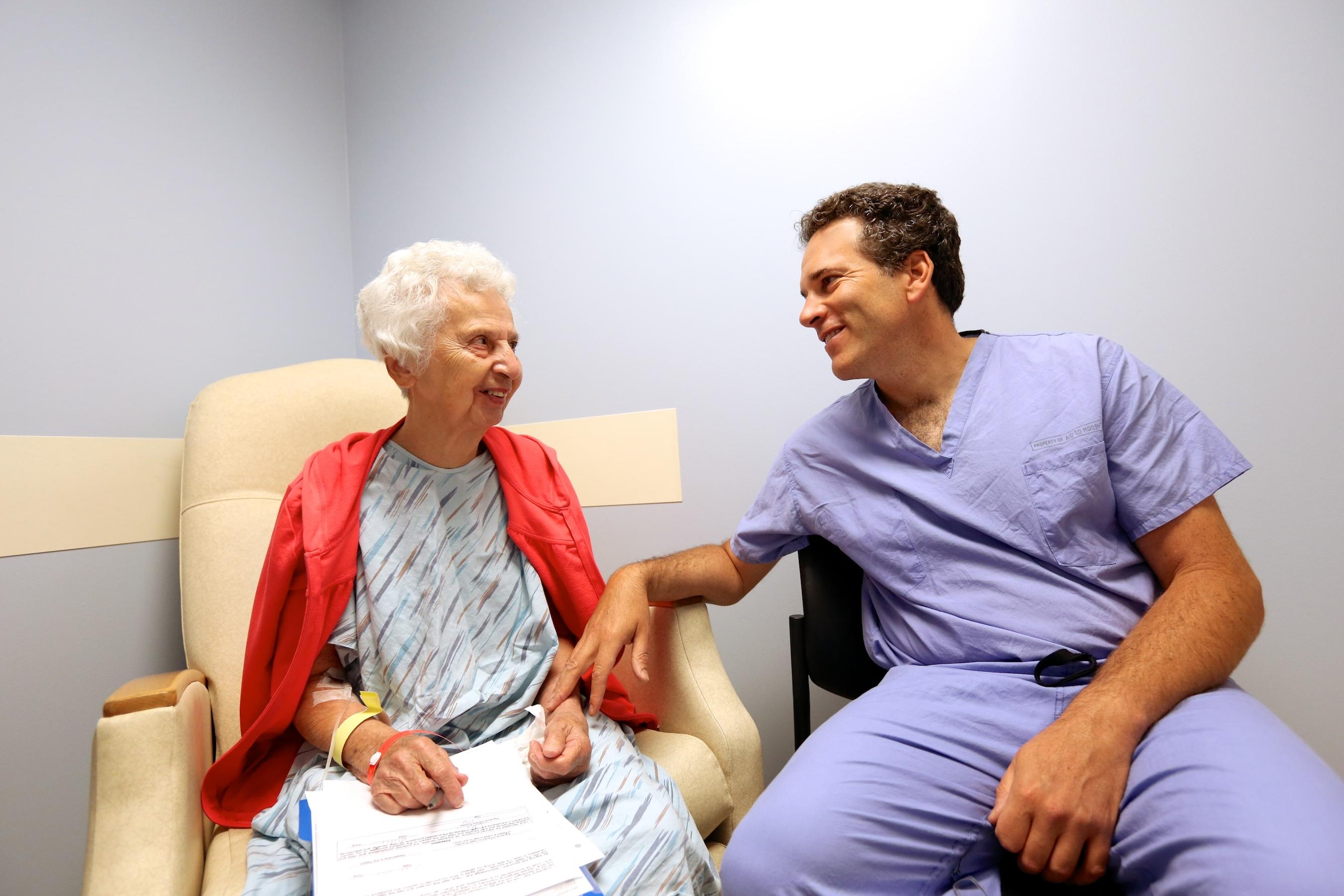 John Markman with patient