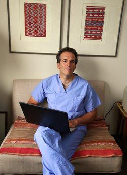 John Markman in his office