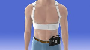 vest with external cardiac defibrillator