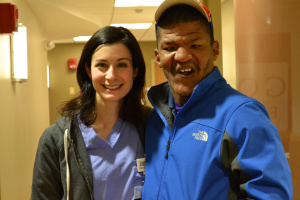 Dr. DeLucia with patient