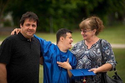 Nick at graduation day