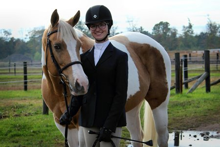 Sarah with her horse