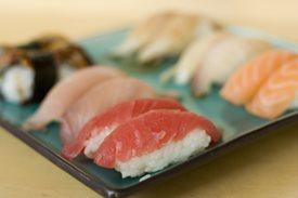 Fish and sushi
