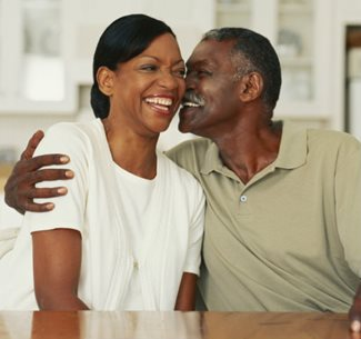 Happy middle-aged African American couple