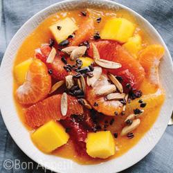 citrus salad mango puree