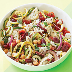 no pasta mediterranean zucchini salad