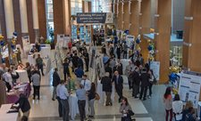 Atrium filled with poster presentations