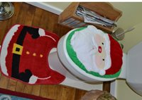 Santa bathroom
