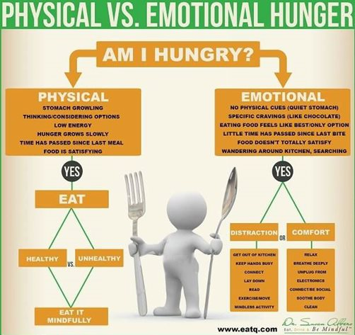 physical v emotional hunger