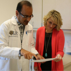 Dr. Mohamedtaki Tejani and Tanya Smith, clinical trials coordinator