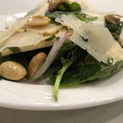 Shaved Celery Root, Fennel & Apple Salad  w/ Manchego and Marcona Almonds