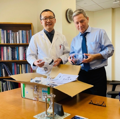 Chinese Colleagues Send Support and Supplies