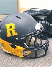 Football helmet used in the study