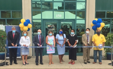 Officials cut a ribbon to open a new mental health center in the city of Rochester