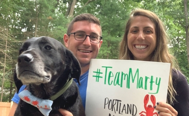 From Nine States, Wilmot Warrior Walk Team Marty Unites Virtually