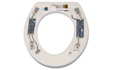Close up of FIT Seat technology embedded in a common toilet seat
