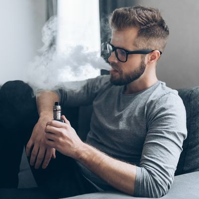 Vaping e-liquid from an electronic cigarette