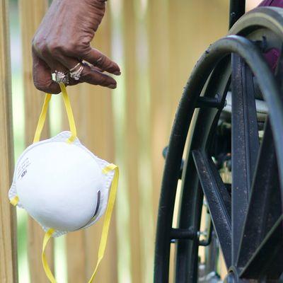 covid nursing home wheelchair