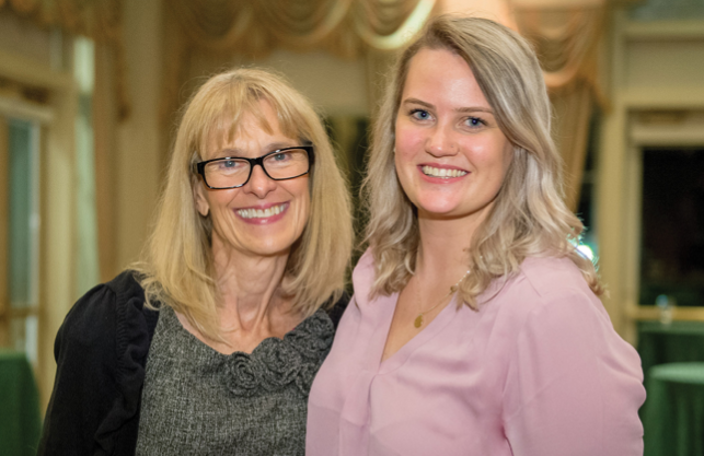 Barbara Simms (left) poses with APNN student Lauren Gotsch
