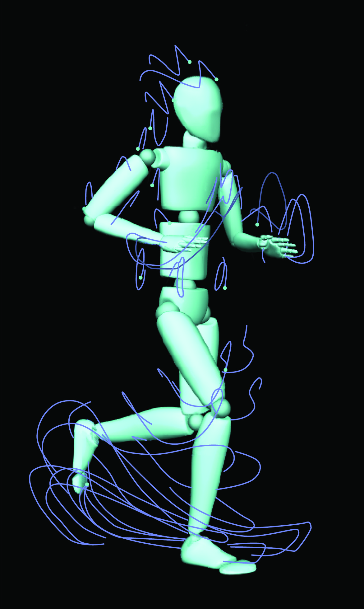 MoBI avatar with human traces.
