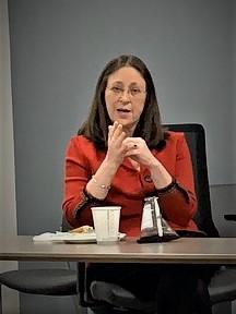 Janice Wiesman, M.D., meets with Neuroscience Program Graduate students at URMC for career workshop (Nov. 1, 2019).