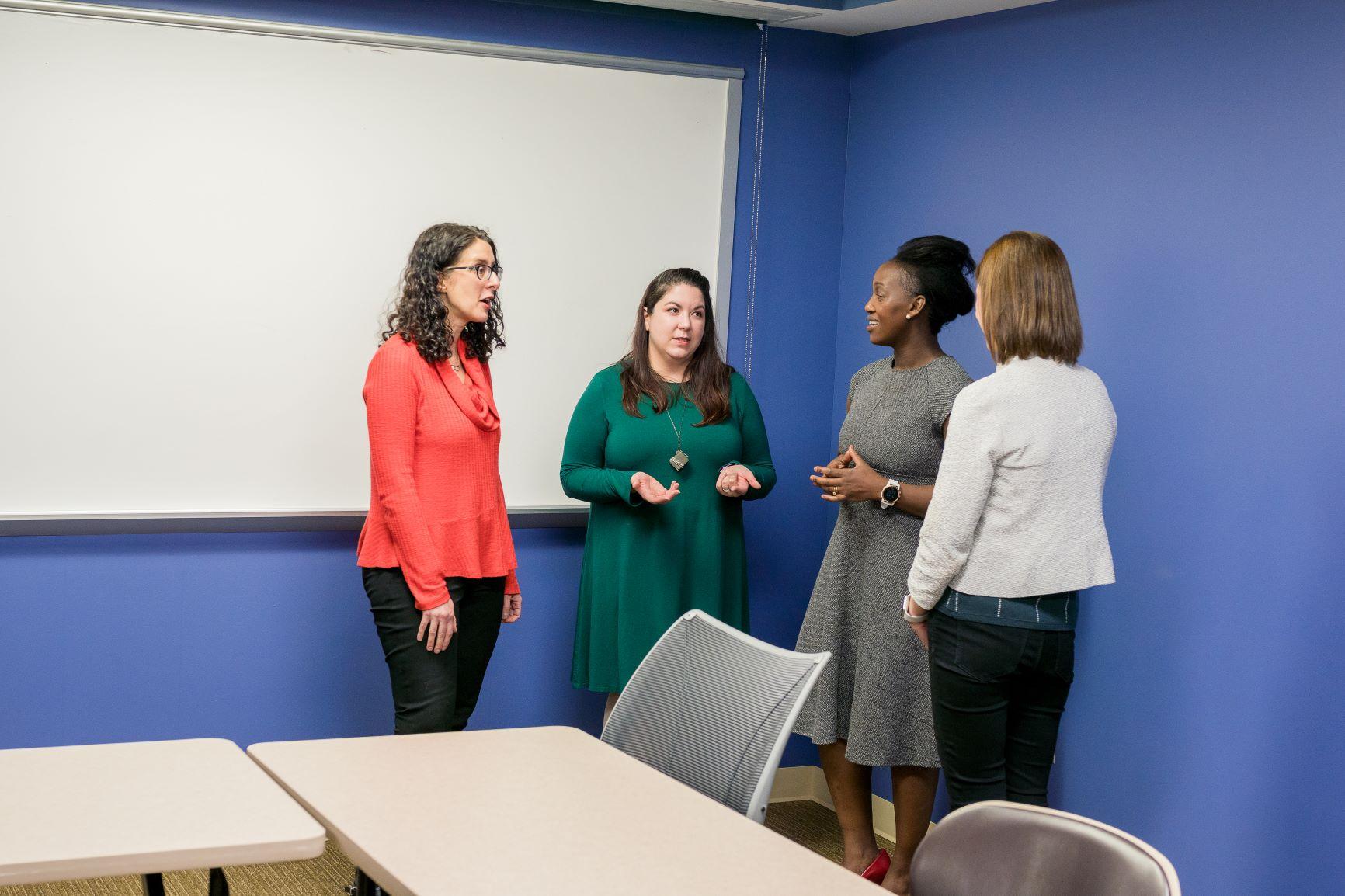 Laura Silverman, Ph.D., Leona Oakes, Ph.D., Tufikameni Brima, Ph.D., and Emily Knight, M.D., Ph.D.