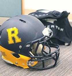 football helmet with sensors