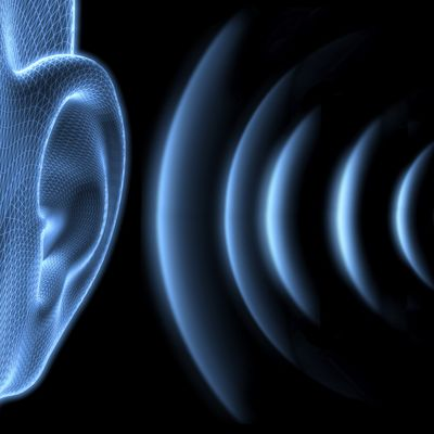 Ear with sound waves
