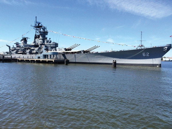 Battleship profile from promenade