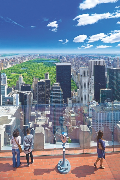 Top of the Rock Observation Deck.  30 Rockefeller Plaza