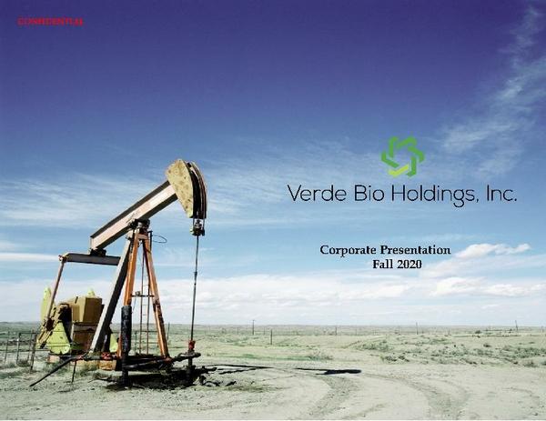 VBHI Corp. Presentation Fall 2020