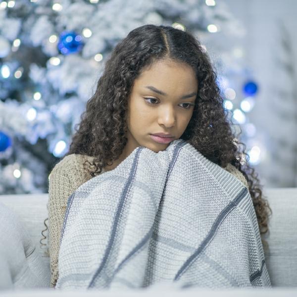 woman sad