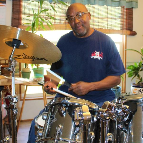 Keith Berryman drumming