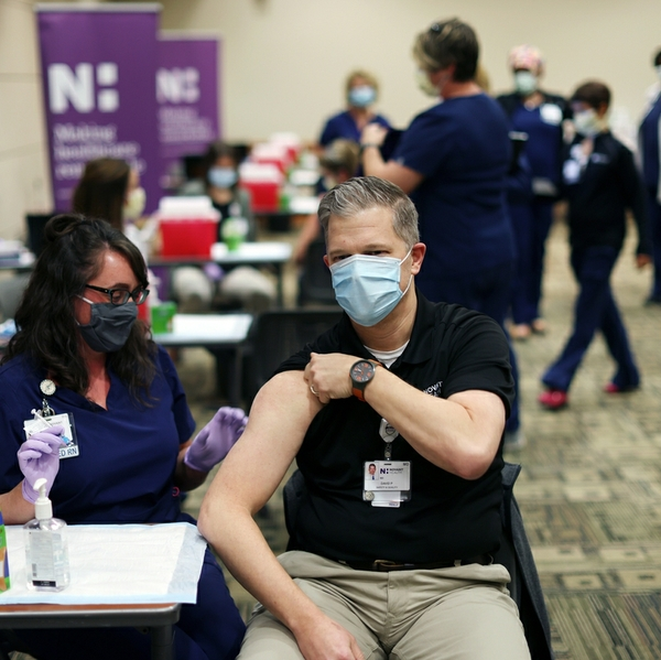 priest gets vaccine